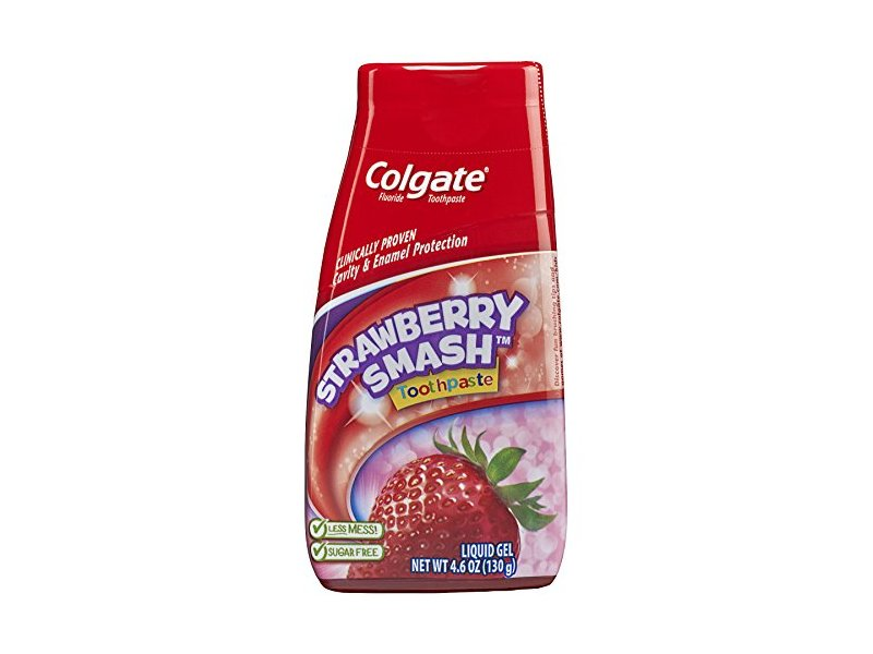 Colgate Kids 2-in-1 Toothpaste and Mouthwash, Strawberry Smash, 4.6 Fluid Ounce