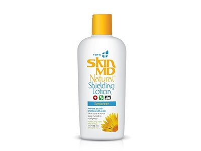 Skin MD Natural Shielding Lotion for Face, Body & Hands 8oz + SPF 15