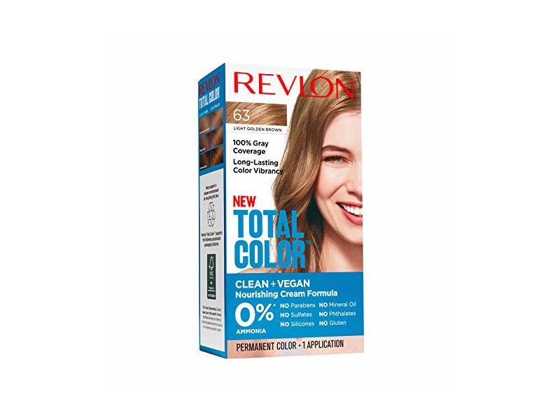 Revlon Total Color Hair Color Gray Coverage Hair Dye, Light Golden Brown, 1 Application