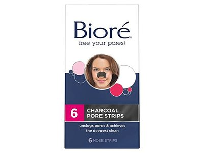 Biore Deep Cleansing Pore Strips, 6 Charcoal Nose Strips