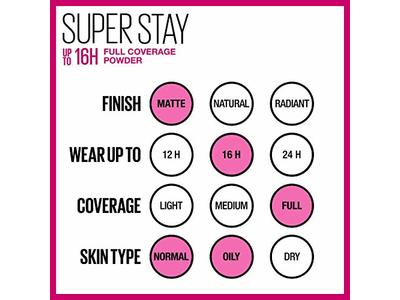 Maybelline New York Super Stay Full Coverage Powder Foundation Makeup Matte Finish, Natural Beige, 0.18 Ounce - Image 9