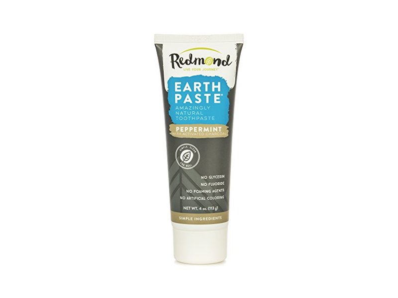 Redmond Earth Paste Amazingly Natural Toothpaste, Peppermint, 4 oz