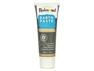 Redmond Earth Paste Amazingly Natural Toothpaste, Peppermint, 4 oz - Image 1