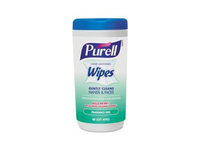 Purell Hand Sanitizing Wipes, Fragrance Free, 40 count