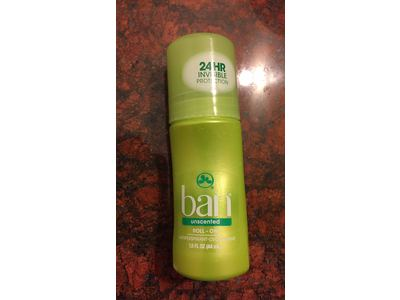 Ban Deodorant Roll-On, Unscented, 1.5oz - Image 3