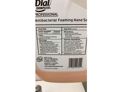 Dial Professional Antimicrobial Foaming Hand Wash, Original Scent, 3.78 L - Image 4