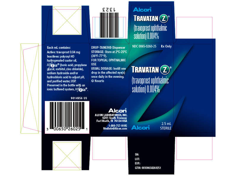 Travatan Z 0.004% Ophthalmic Solution (RX) 5 ml, Alcon Laboratories, Inc.