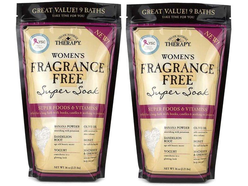 Village Naturals Women's Fragrance Free Super Soak, 36 oz (Pack of 2)