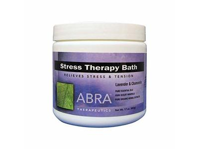Abra Stress Therapy Sea Salt Bath, Lavender & Chamomile, 17 oz
