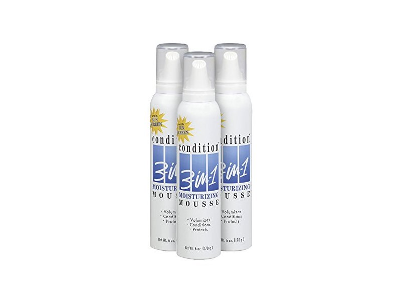 Condition 3-in-1 Moisturizing Hair Mousse, 6 oz (Pack of 3)