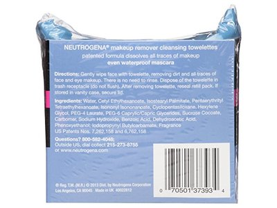 Neutrogena Makeup Removing Wipes, 25 Count, Twin Pack - Image 3