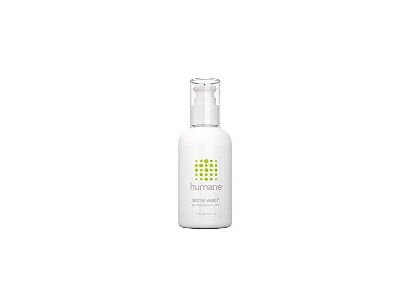 Humane Benzoyl Peroxide 10% Acne Treatment Body & Face Wash, 8 Oz