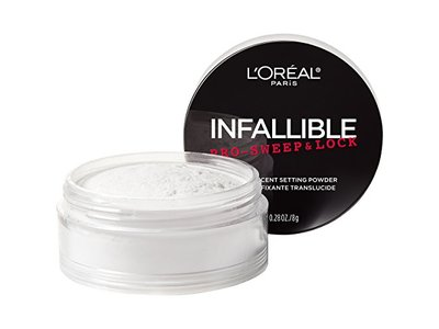 L'Oreal Paris Cosmetics Infallible Pro Sweep & Lock Loose Setting Powder, Translucent, 0.28 Ounce