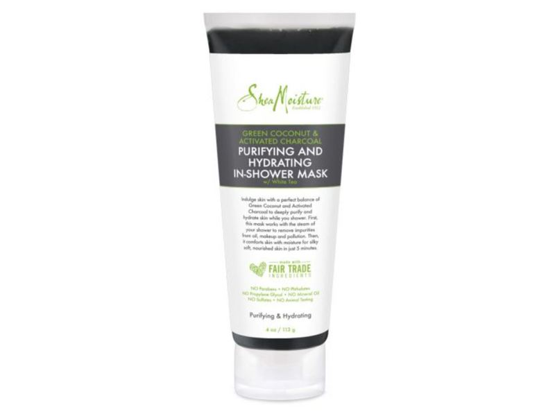 SheaMoisture Purifying And Hydrating In-Shower Mask, Green Coconut & Activated Charcoal, 4 oz