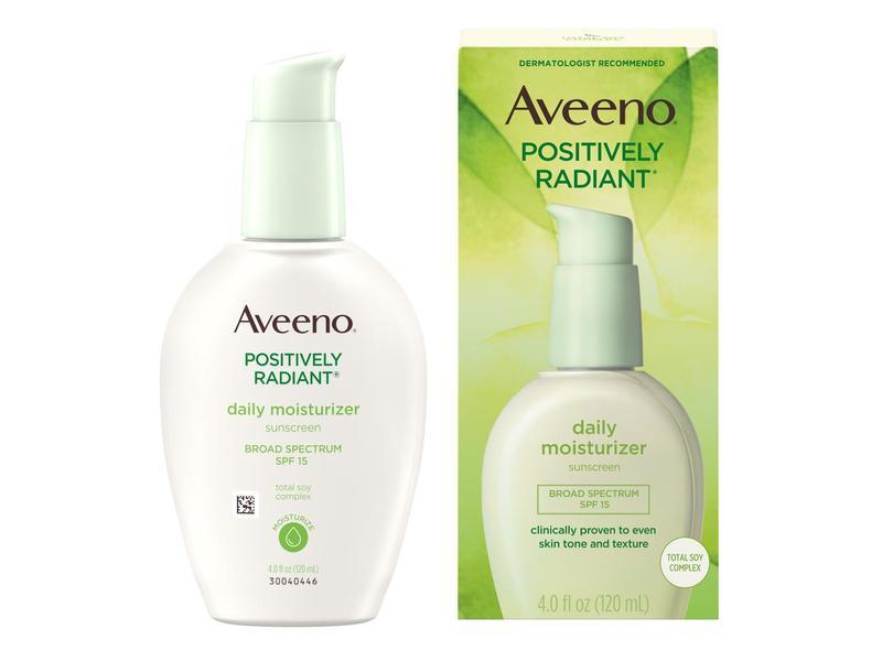 Aveeno Positively Radiant Daily Moisturizer, SPF 15, 4 fl oz