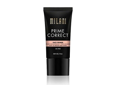 Milani Prime Correct Face Primer, Light to Medium Skin Tones, 0.85 fl oz