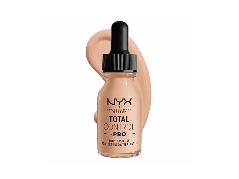 Nyx Professional Makeup Total Control Pro Drop Foundation, Light, 0.43 fl oz