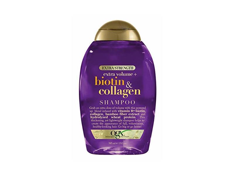 Ogx Extra Strength Biotin And Collagen Shampoo, 13 oz / 385 ml