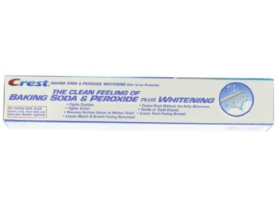 Crest Baking Soda And Peroxide Whitening With Tartar Protection Fresh Mint Flavor Toothpaste, 6.4 Oz - Image 5