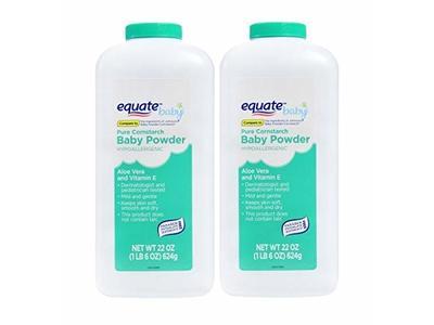 Pure Cornstarch Baby Powder Aloe and Vitamin E, 22 oz