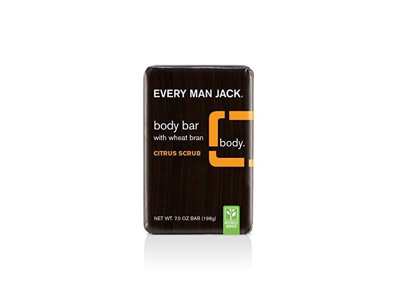 Every Man Jack Body Bar, Citrus Scrub, 7 Ounce