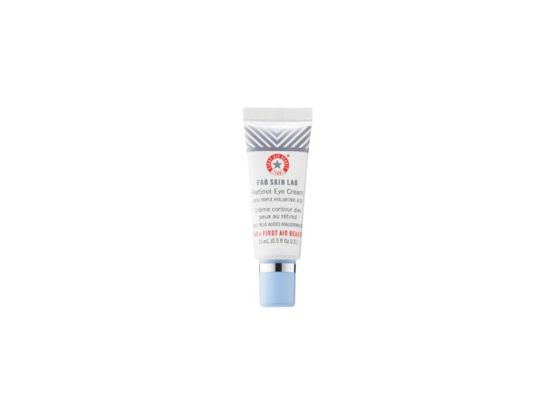 First Aid Beauty FAB Skin Lab Retinol Eye Cream with Triple Hyaluronic Acid, 0.5 oz