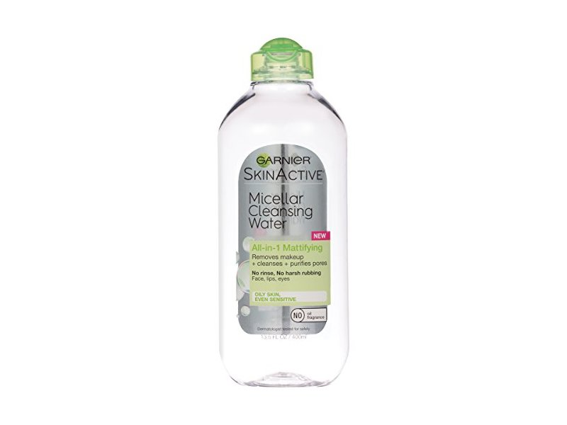 Garnier SkinActive Micellar Cleansing Water All-in-1 Cleanser & Makeup Remover for Oily Skin, 13.5 fl oz