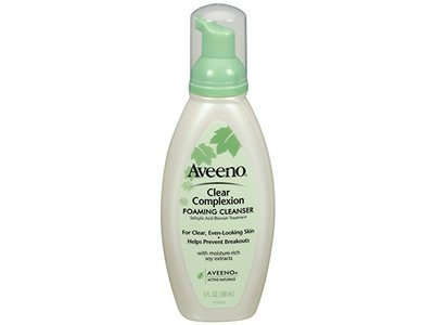 Aveeno Clear Complexion Foaming Cleanser, 6 Ounce (Pack of 3) - Image 1