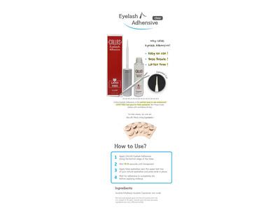 Callas Eyelash Adhesive, Clear, 0.17 fl oz