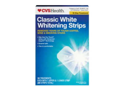 CVS Health Classic White Whitening Strips, 10 ct