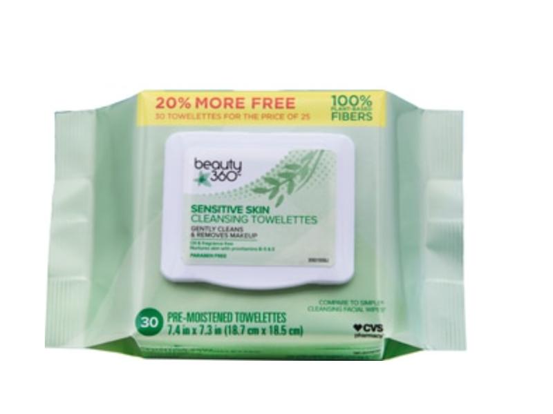 Beauty 360 Sensitive Skin Makeup Remover Wipes