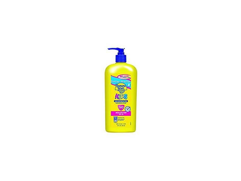 Banana Boat Sunscreen Kids Broad Spectrum Suncare Sunscreen Lotion, SPF 50, 12 ounce
