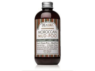 SheaTerra Organics Moroccan Mud-Poo, Rosemary Carrot Seed, 8 oz