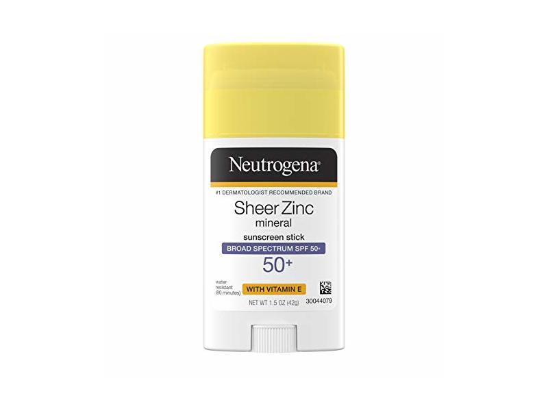 Neutrogena Sheer Zinc Mineral Sunscreen Stick, SPF 50+, 1.5 oz