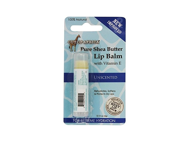 Out of Africa, Lip Balm, Pure Shea Butter, Unscented, 0.15 oz (4 g)