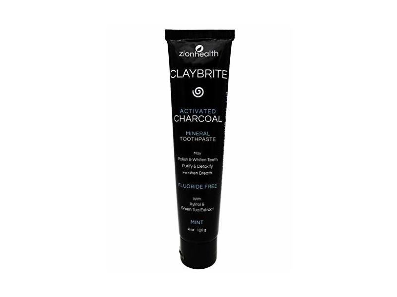 Zion Health ClayBrite Mineral Toothpaste 4 oz Activated Charcoal