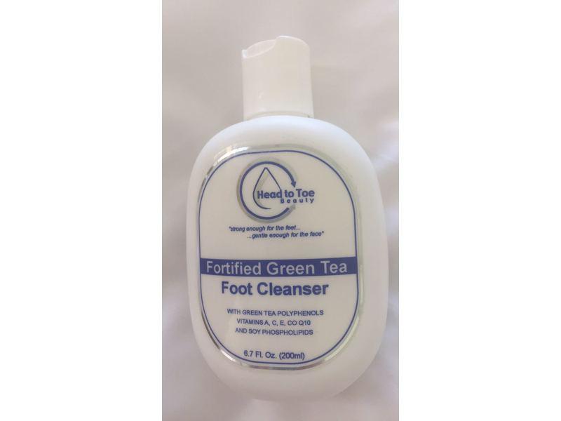 Head to Toe Beauty Fortified Green Tea Foot Cleanser, 6.7 fl oz