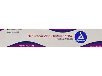 Dynarex Bacitracin Zinc Ointment, 4 oz Tube