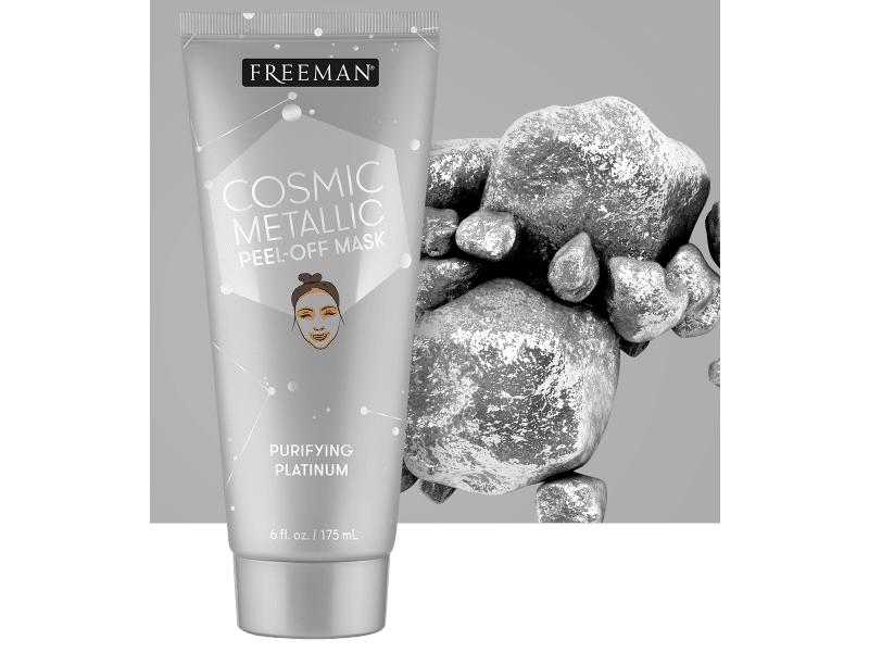 Freeman Beauty Cosmic Metallic Peel-Off Mask, Purifying Platinum, 6 fl oz/175 mL