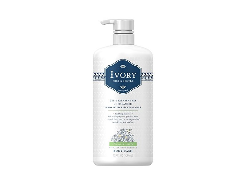 Ivory Free & Gentle Cleanse & Soothe Body Wash, Chamomile, 16.9 fl oz