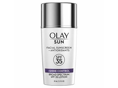 Olay Sun Facial Sunscreen + Shine Control, SPF 35, 40 mL - Image 1