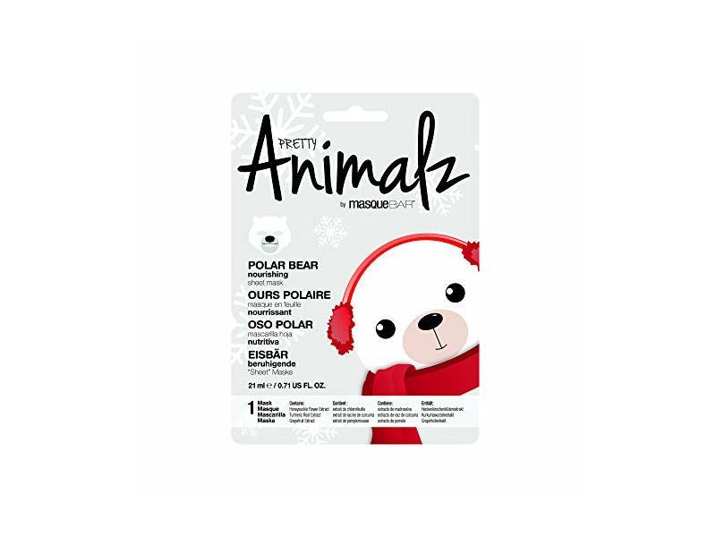 masqueBAR Pretty Animalz Polar Bear Sheet Mask
