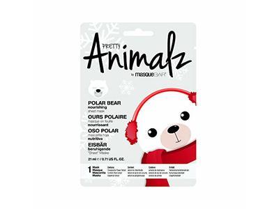 masqueBAR Pretty Animalz Polar Bear Sheet Mask - Image 1