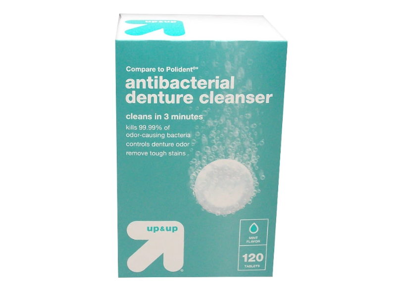 up&up Antibacterial Denture Cleaner, 120 tablets