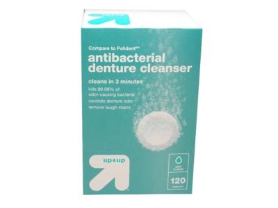 up&up Antibacterial Denture Cleaner, 120 tablets