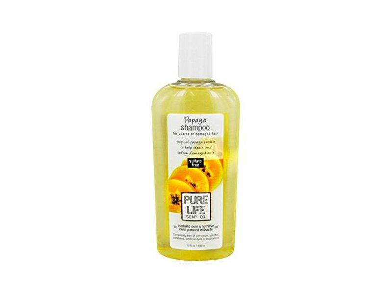 Pure Life Soap Co. Papaya Shampoo, 15 Fz