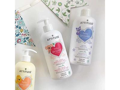 Attitude Baby Leaves, Hypoallergenic Bubble Bath & Body Wash, Almond Milk, 16 Fluid Ounce - Image 12