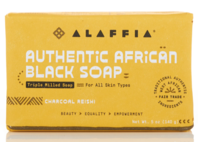 Alaffia Authentic African Black Soap, Charcoal Reishi, Triple Milled, 5 oz/140 g, Pack Of 3 - Image 2