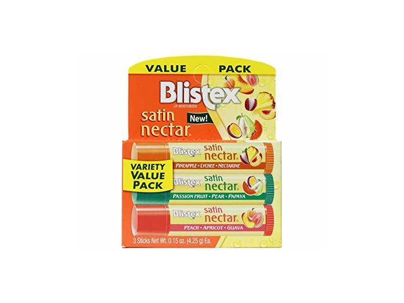 Blistex Satin Nectar Lip Moisturizer Variety Value Pack, 0.15 Ounce Each