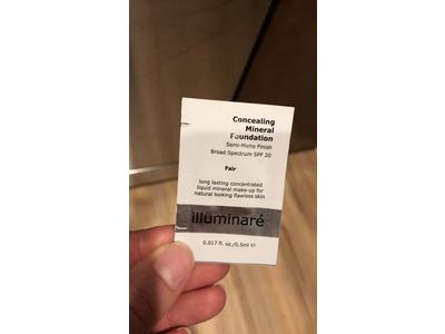 Illuminare Concealing Mineral Foundation, Fair, Sample Size 0.017 oz